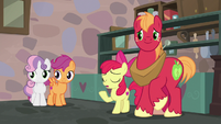 Apple Bloom apologizing to Sugar Belle S7E8