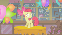 Apple Bloom realizing she has no cutie mark for the party S1E12