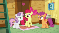 Apple Bloom suggesting using Applejack's camp S7E21