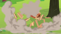 Apple shed smashing into pieces S8E9
