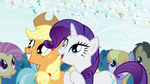 Applejack and Rarity in awe of the Breezies S4E16