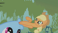 Applejack in Rainbow Dash's mouth S1E09.png