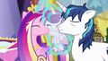 Cadance and Shining Armor kiss Flurry Heart S7E3.png