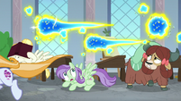 Flash bees swarming over the students S9E20