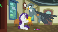 Gabby helping Rarity off the floor S9E19