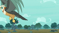 Giant roc snatches up Rarity and Spike S8E11
