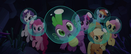 Mane Six and Spike enter Seaquestria MLPTM