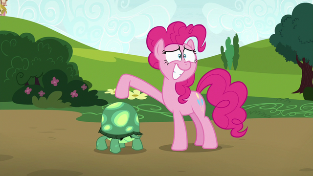 File:Pinkie Pie presenting Tank to Maud S7E4.png
