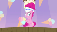Pinkie Pie reaching behind her MLPS5