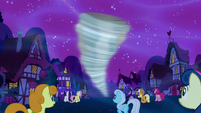 Ponies watching the tornado S5E13