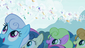 Ponyville watching the Breezies S4E16.png