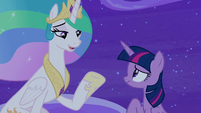 "Princess Celestia ""I don't know about that"" S8E7"