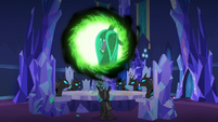 Queen Chrysalis laughing maniacally S6E25