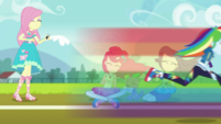 Rainbow Dash zooming down the track EGDS6