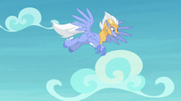 Sky Beak flying through the sky S8E6