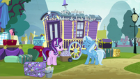 Trixie -always nice to come to Ponyville- S8E19