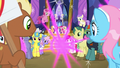 Twilight Sparkle teleports away from the crowd S7E14.png