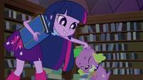 Twilight acaricia a cabeça de Spike EG