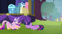 Twilight and Cadance -ladybugs awake!- S8E19