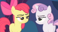 Apple Bloom and Sweetie Belle annoyed S4E05