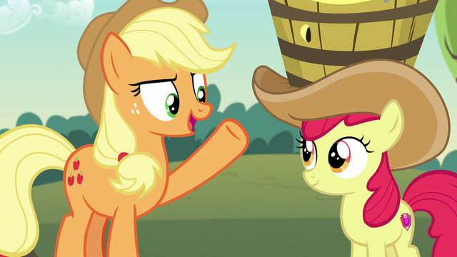 """File:Applejack """"what the pony community needs!"""" S7E9.png"""