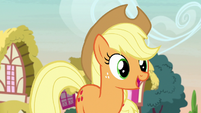 Applejack feeling hopeful about the contest S7E9