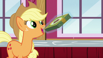 Applejack passes box on to Rarity S6E15