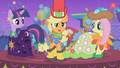 Applejack tries to hide her galoshes from view S1E14.png