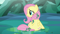 Fluttershy sitting alone covered in changeling slime S6E26