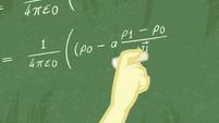 Fluttershy writing a complex math equation EGDS10