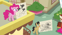 Pinkie Pie and Cherry Fizzy with Wonderbolts drawings S4E21