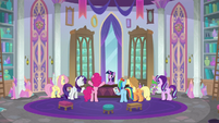 Ponies complaining in Twilight's office S8E1