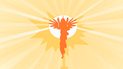 Princesa Celestia levantando o sol T1E23