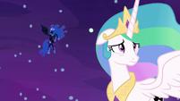 Princess Celestia starting to doubt herself S7E10