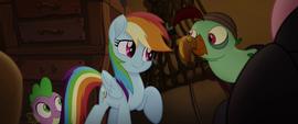 Rainbow Dash cheering up Squabble MLPTM