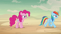 Rainbow Dash leaves to follow A. K. Yearling S7E18