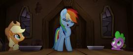 Rainbow Dash starts to sing MLPTM