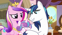 Shining Armor tickling Flurry Heart S7E22