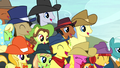 Spectator ponies laughing S5E6.png