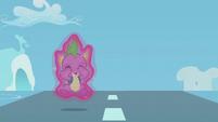 Spike levitates before he hits the ground S5E25