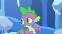 Spike looking back at Thorax S6E16