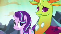 Starlight and Thorax start to look worried S7E1