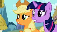 Applejack pleading with Zecora S02E06