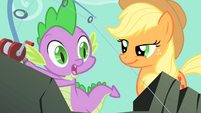 Applejack smiling at Spike S01E19