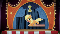 Cardboard cutout of filly Applejack BFHHS4