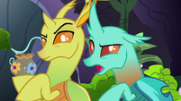 "Changeling 2 ""spends all his craft time making spears"" S7E17"