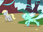 Derpy Hooves y Lyra Heartstrings T01EP02