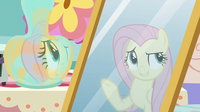 """File:Fluttershy's reflection """"redecorate this place"""" S7E12.png"""