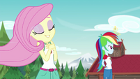 Fluttershy with hair swept by the breeze EG4