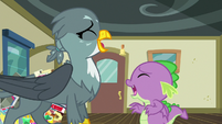 Gabby and Spike laughing together S9E19